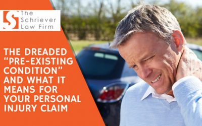 """The Dreaded """"Pre-existing Condition"""" and What It Means for Your Personal Injury Claim"""